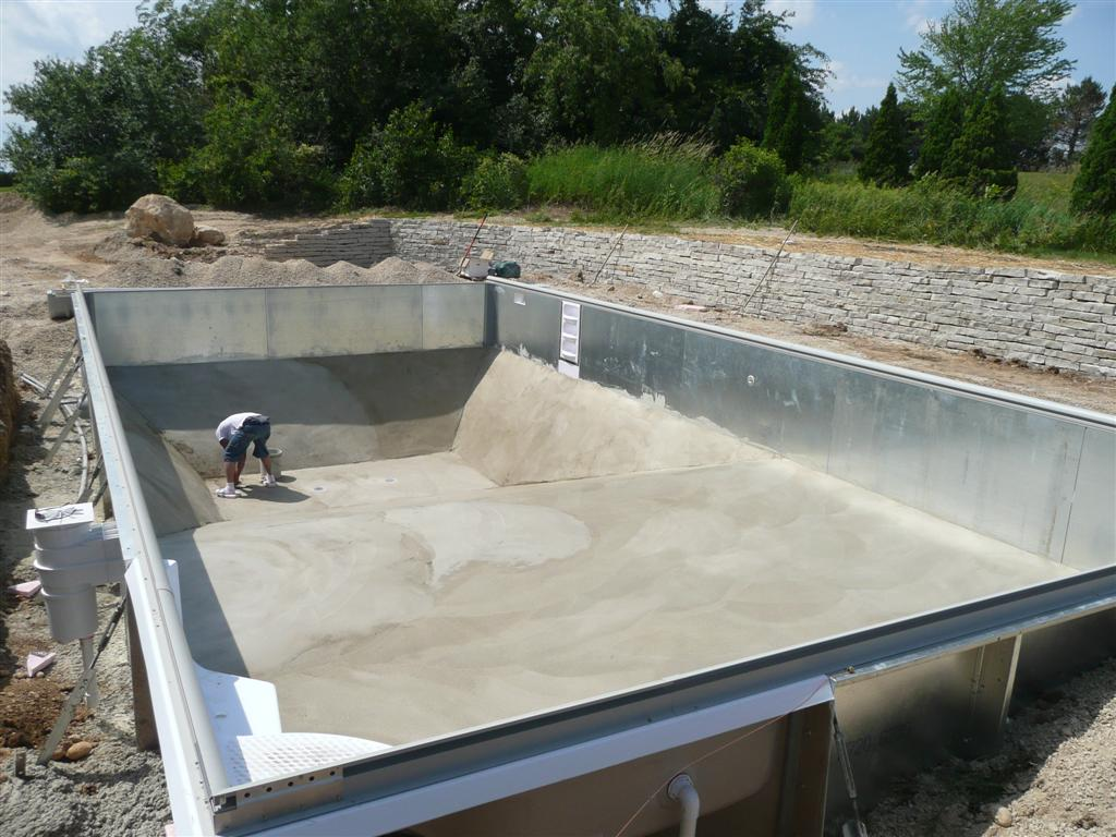 Vermiculite Sand Or Concrete Pool Bottom For My Vinyl Liner Pool